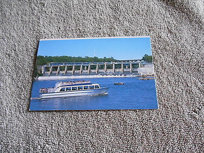 Vintage   Post Card   Wisconsin Light And Power Co  Dam