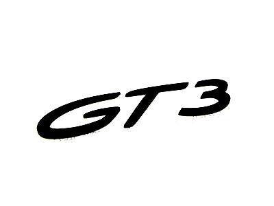New Genuine Porsche GT3 Script Rear Badge In Black 991 GT3