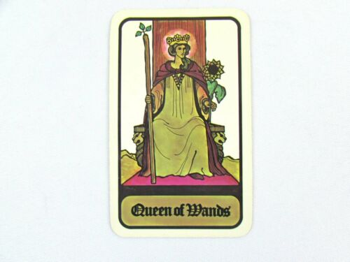 Vintage 1972 Hoi Polloi Tarot *Single Replacement Card* Queen of Wands