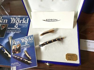 "WATERMAN EDSON BOUCHERON  LTD EDITION FOUNTAIN  PEN NIB ONE OF A KIND ""SPECIMEN"""
