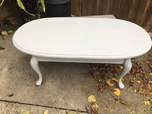 Chalk painted and sealed French Provincial coffee table