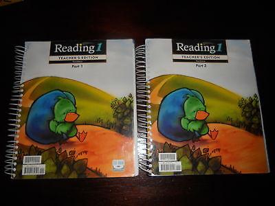 Reading 1 Teacher's Edition homeschool BJU Bob Jones Part 1 and 2 with cd