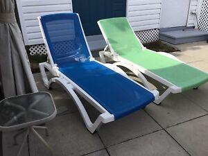2 Chaise longues de soleil