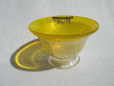 "Hizen Bidoro ""Yellow Sake Cup with Silver Leaves"" (Handcrafted in Saga)"