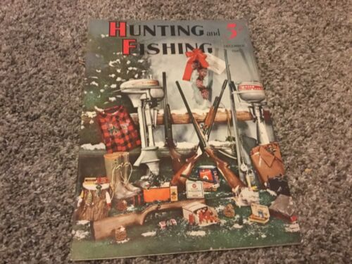 Vintage December 1941 HUNTING and FISHING magazine dogs boating guns woodcraft