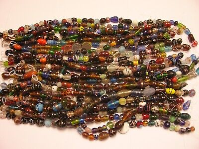 Wholesale Lot India Glass Beads - 5 Pounds - Low Quality - 400 Pieces Mix (PG-6)