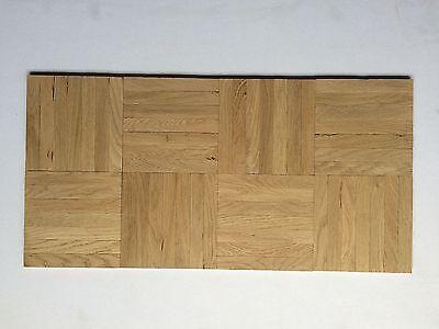 Mosaikparkett Eiche Rustikal Würfel, Massivparkett, eine Verlegeeinheit