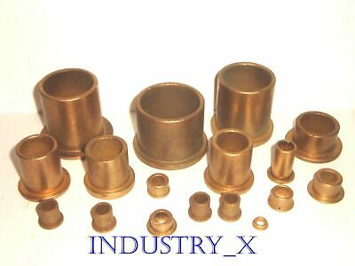 Oilite Bronze Bushing With Flange - Pick Your Size Quantity - Oil Lite Brass