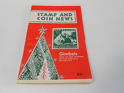 STAMP & COIN NEWS BOOKLET  GIMBELS 96 PAGES VERY GOOD