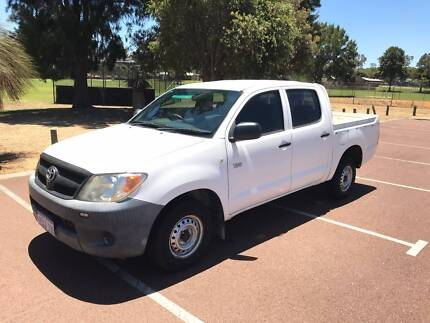 2008 Toyota Hilux 4x2 D/CAB Workmate 5 SP Manual White Utility