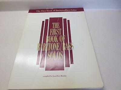 G Schirmer Bass Baritone (The First Book of Baritone / Bass Solos by Joan Frey Boytim G. Schirmer songbook )