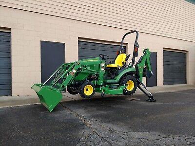 2015 John Deere 1025r Tractor, Loader, & Backhoe 4WD 25 HP