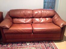 Moran 3 Piece leather lounge suite Toowong Brisbane North West Preview