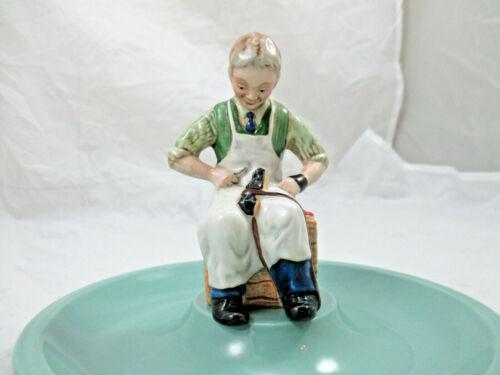 Vintage Beswick Shoemaker Cobbler Shoe Repair Advertising Figurine Trinket Dish