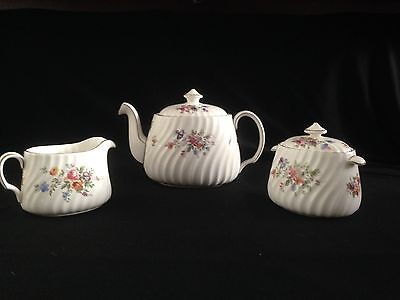 Vintage MINTON MARLOW S-309 Teapot With Cream & Sugar Bowl Excellent Condition