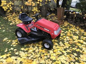 Mastercraft riding mower: all tuned up and ready to go.