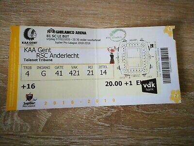Ticket : KAA Gent - RSC Anderlecht 07.02.2020