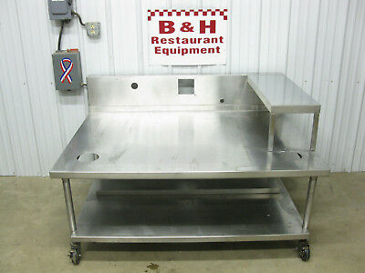 60 X 45 Stainless Steel Griddle Grill Fryer Equipment Stand 5 Table W Shelf