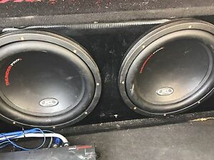 """Mtx thunder pro 2 12"""" subs and amp"""