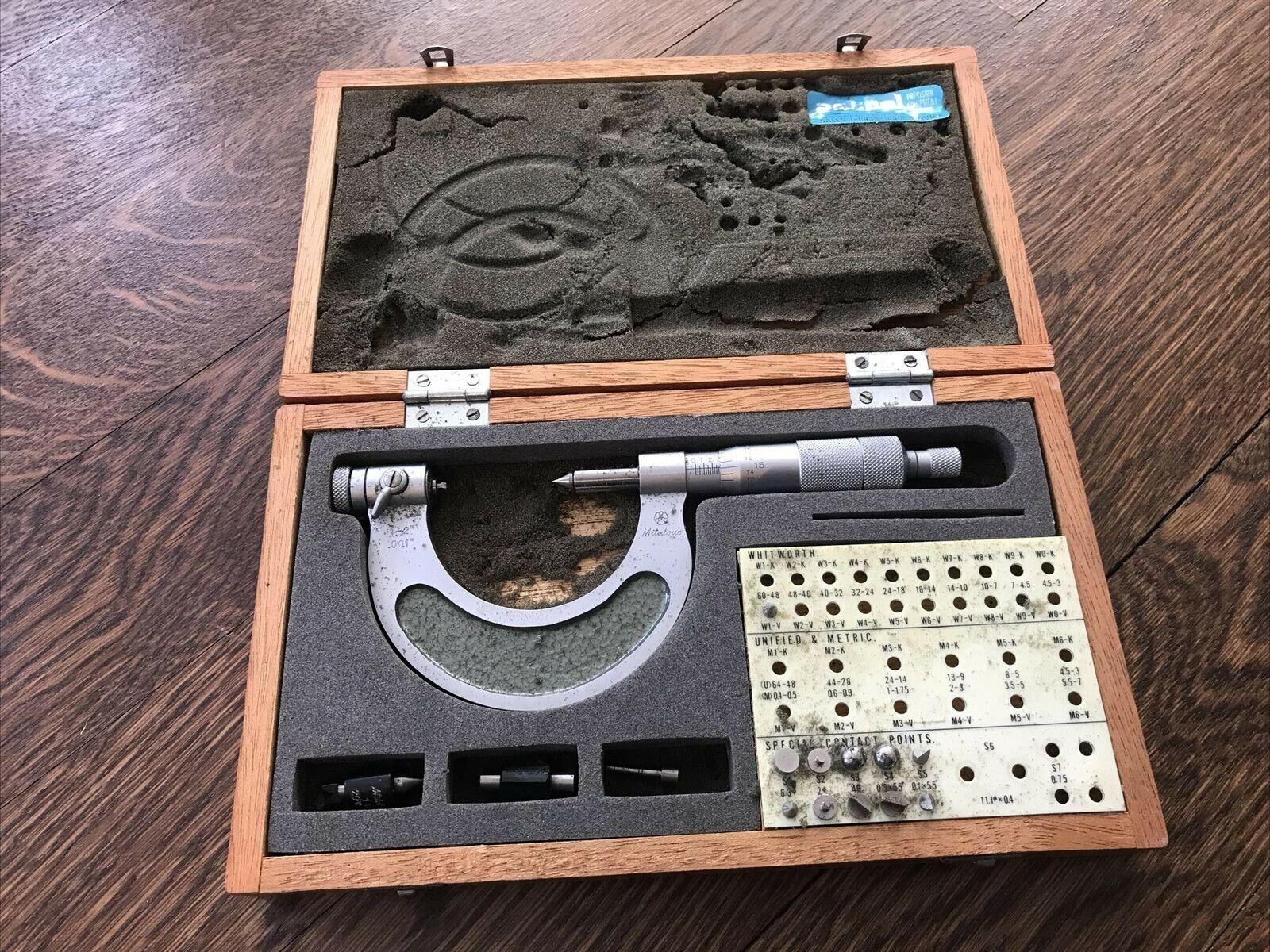 "Mitutoyo 1-2"" Thread Micrometer"