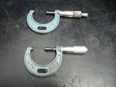 Lot Of 2 Mitutoyo Outside Micrometers Calipers 103-178 1-2 .001