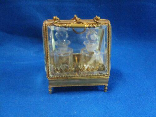 ORMOLU FRENCH VICTORIAN DOUBLE PERFUME VANITY CASKET