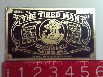 Tired Man Engine Name Tag Nameplate