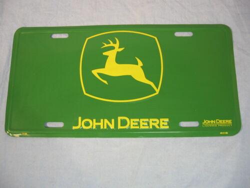 John Deere Metal Advertising License Plate