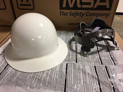 New Msa 475408 Skullgard Fiberglass Full Brim Hard Hat W Fas-trac Suspension