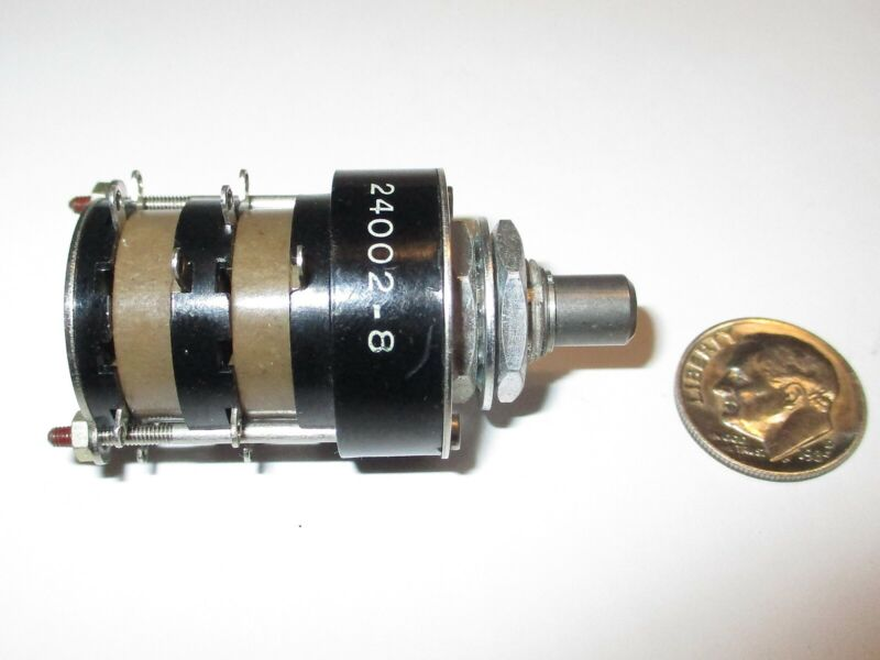 "GRAYHILL ROTARY SWITCH  SERIES 24  2 POLE - 7 POSITIONS 1"" OD   NOS"