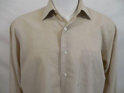 Robert Talbot Best of Class Mens Dress Shirt Beige LS 100% Cotton 15 1/2-33 Best Mens Dress Shirts