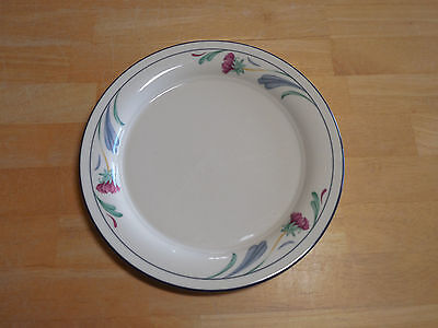 Lenox Chinastone POPPIES ON BLUE Set of 3 Salad Plates 8 1/4