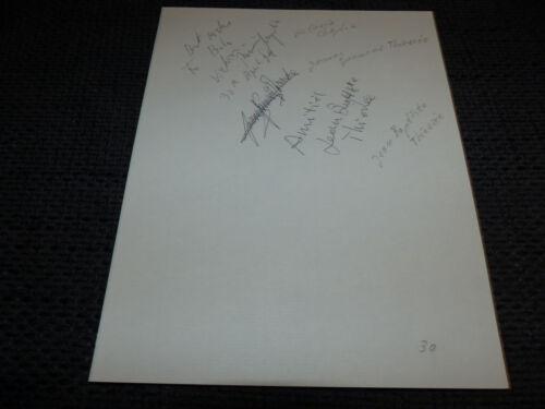 JAMES THIERREE JEAN-BAPTISTE THIERREE VICTORIA CHAPLIN signed Autogramm InPerson