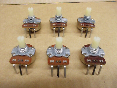 Cts 5k Ohm Audio Taper Rotary Potentiometer Panel Pot Nos 1986 Lot Of 6