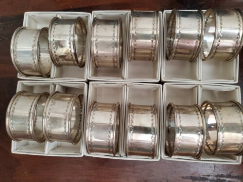 Reed and Barton Sterling Silver Napkin Rings with boxes (12 total) Vintage, Rare