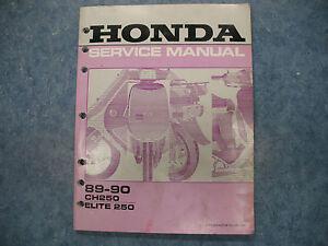 honda 1989 1990 ch250 elite 250 owners service manual. Black Bedroom Furniture Sets. Home Design Ideas