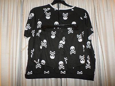 Womens Plus Size 1x Skull & Cross Bone Short Pajama Set Joe Boxer PJs
