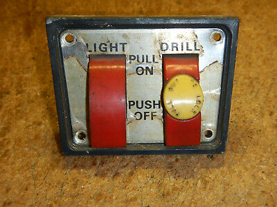 Vintage Craftsman 15 12 Drill Press Switch Plate And Switches