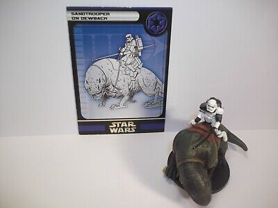 Star Wars Miniatures - Sandtrooper on Dewback 40/60 - Very Rare - Rebel storm