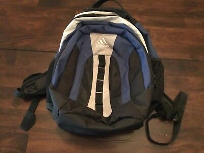 ADIDAS BACKPACK ( LARGE ) BLK / NAVY / GRY PREOWNED