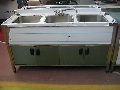 Self Contained 3 Compartment Kitchen Sink