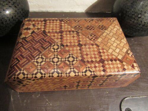 Japanese Hakone  Marquetry Trinket Jewelry  Box