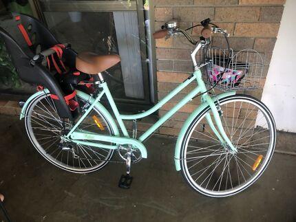 Brand new beach cruiser bike + bike seat