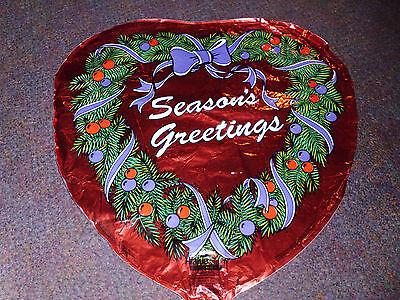 Seasons Greetings Heart Shaped Mylar Balloon ()