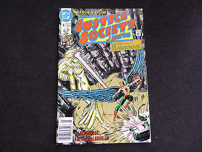 Justice Society of America #4 - featuring Hawkman (Jul 1991 DC)