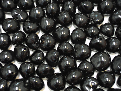 Kukui Nut Beads Loose BLACK Nuts Glossy 180 Pieces