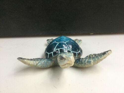 Resin  Blue Sea Turtle  Figurine