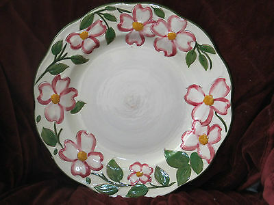 STANGL POTTERY PINK DOGWOOD PLATE WHITE WITH PINK FLOWERS BEAUTIFUL!