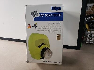 Drager Parat Emergency Escape Hood-oxygen-mask-respirator-toxic-fire-gas-s 5530