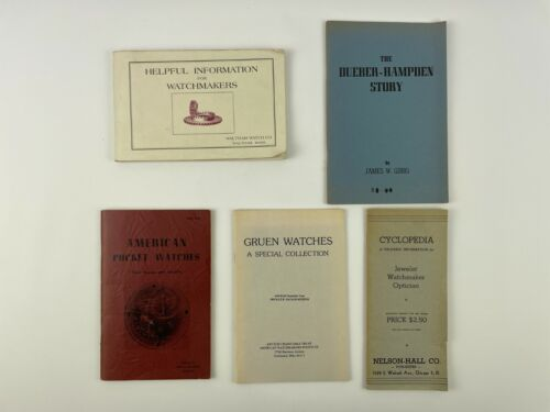 Watch and Clock (5) Catalog Set, Gruen, Waltham, Pocket Watches. 203H